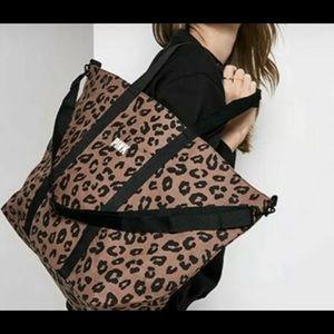 Pink Victoria Secret leopard print Weekender tote